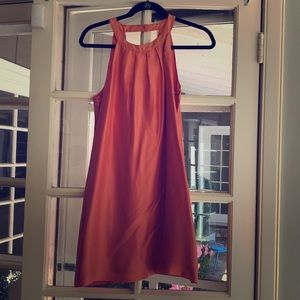 Coral J Crew open back silk dress